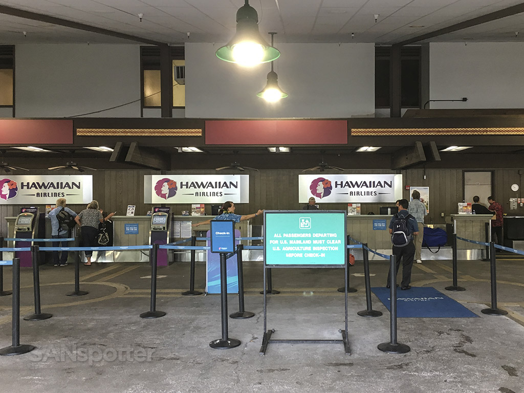 Hawaiian airlines check in Hilo airport