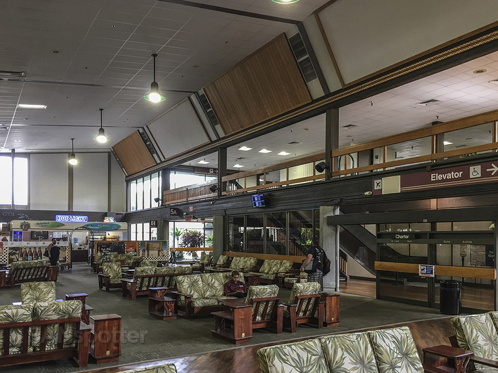 Hilo airport waiting lounge