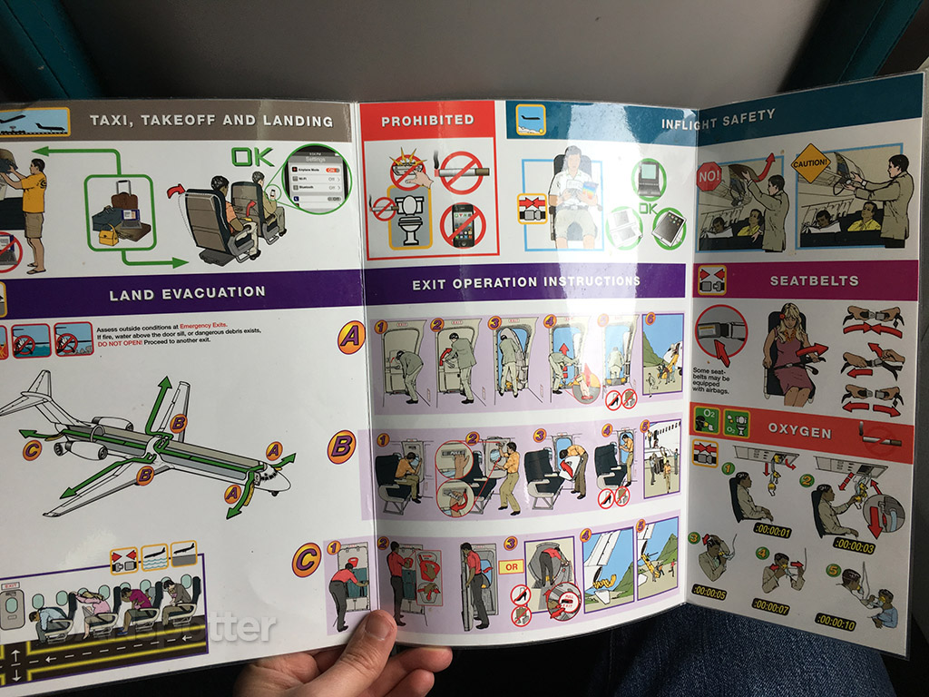 Hawaiian Airlines 717 safety card