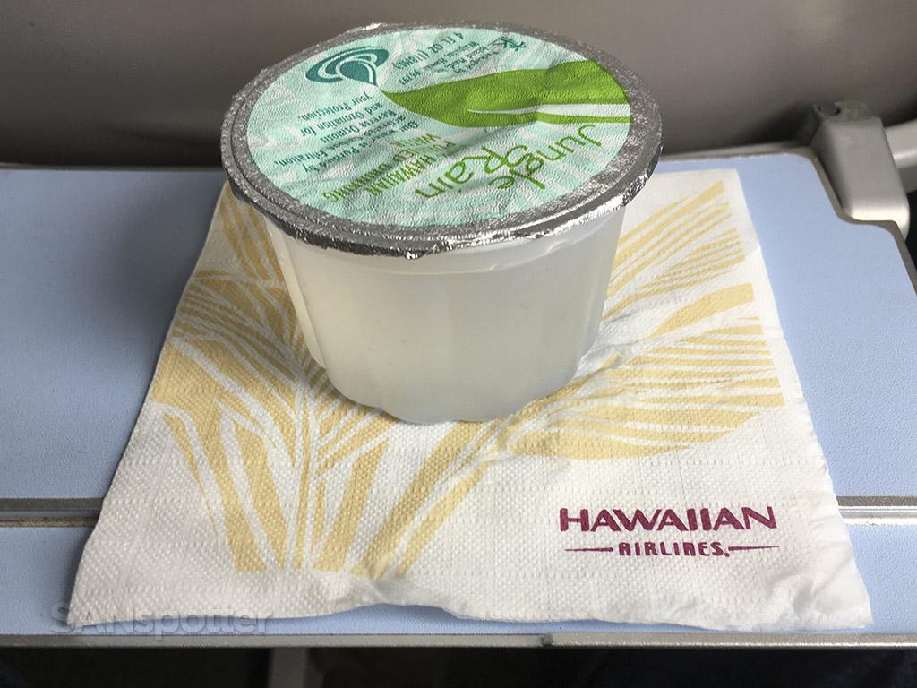 Hawaiian Airlines in flight beverage