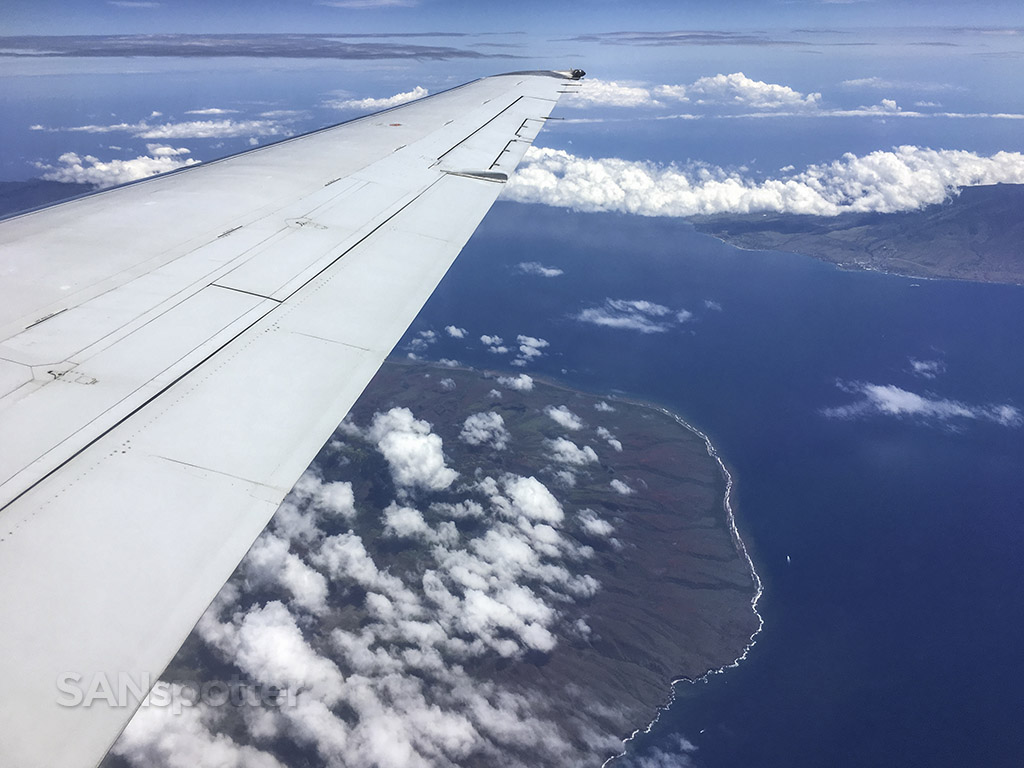 Flying over lanai
