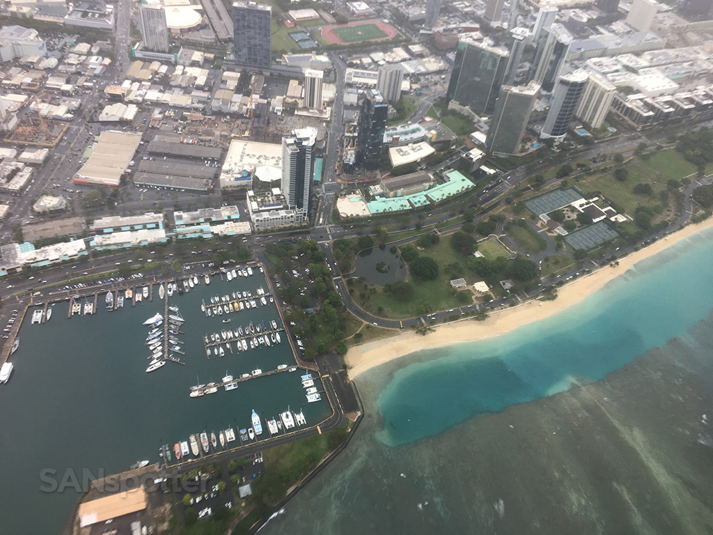 overflying honolulu