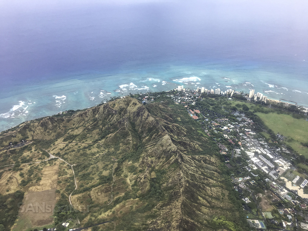 western edge of Diamond Head