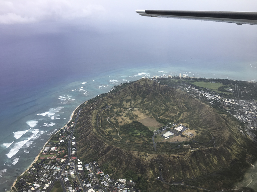 diamond head from the air