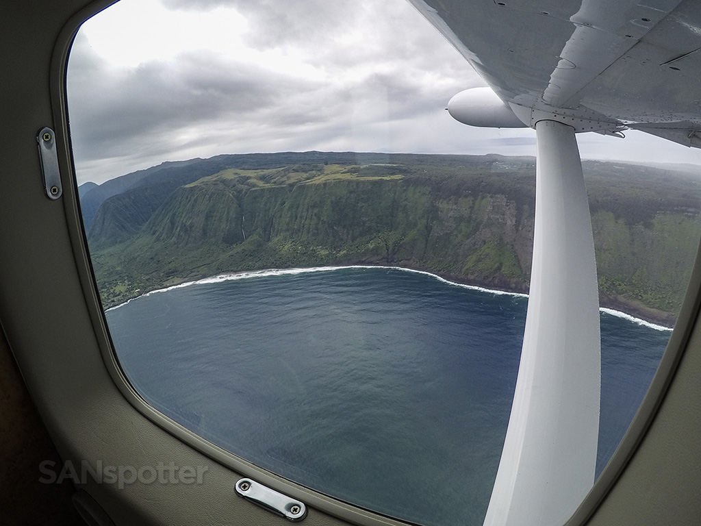 molokai coast from the air