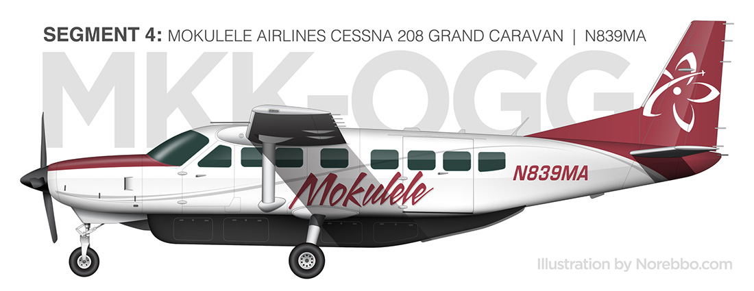 mokulele airlines cessna 208 grand caravan livery