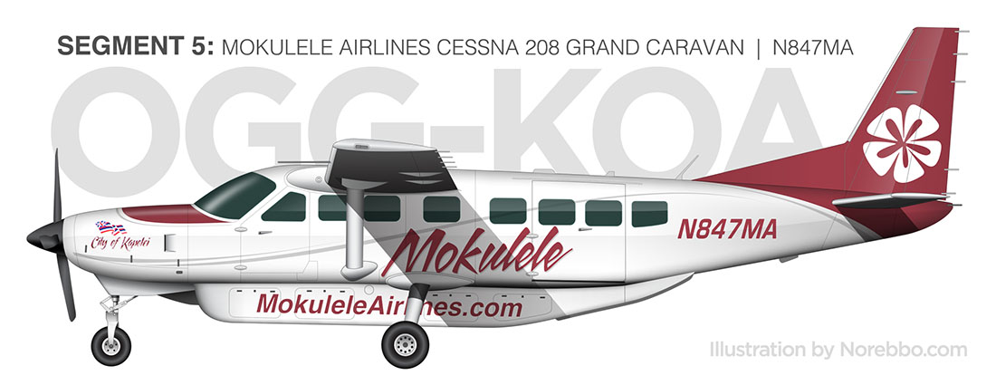 norebbo mokulele airlines cessna 208 side view