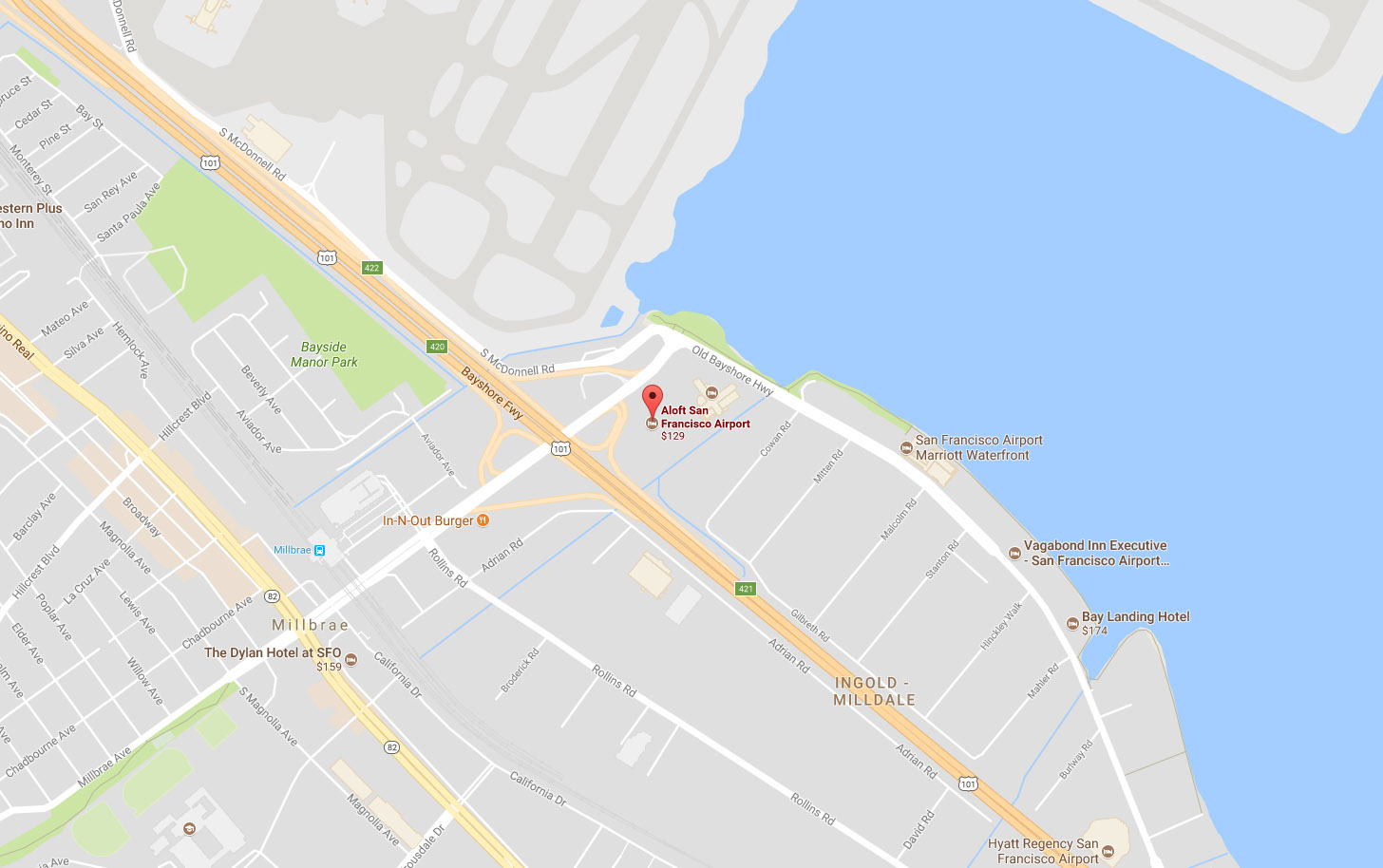 Aloft Hotel location map
