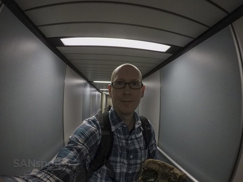 SANspotter selfie jet bridge