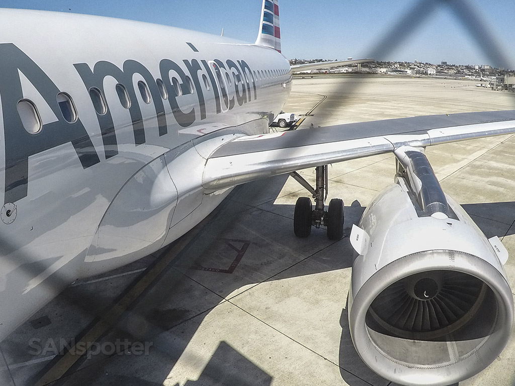 American Airlines A319 SAN