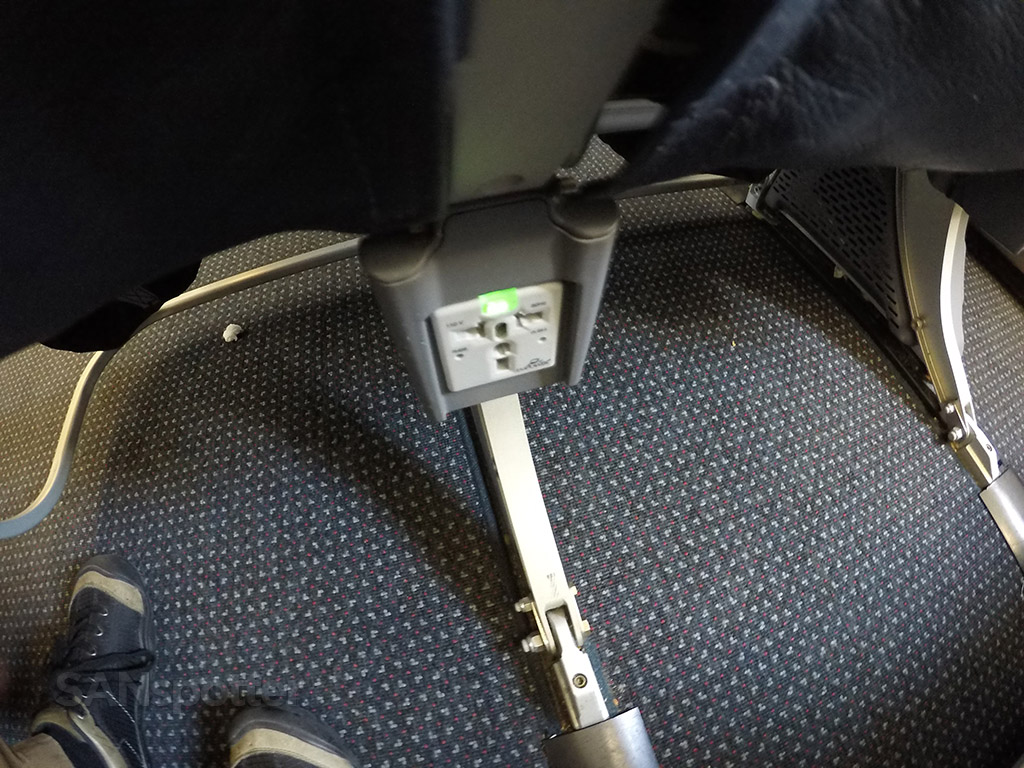 american airlines a319 in seat power