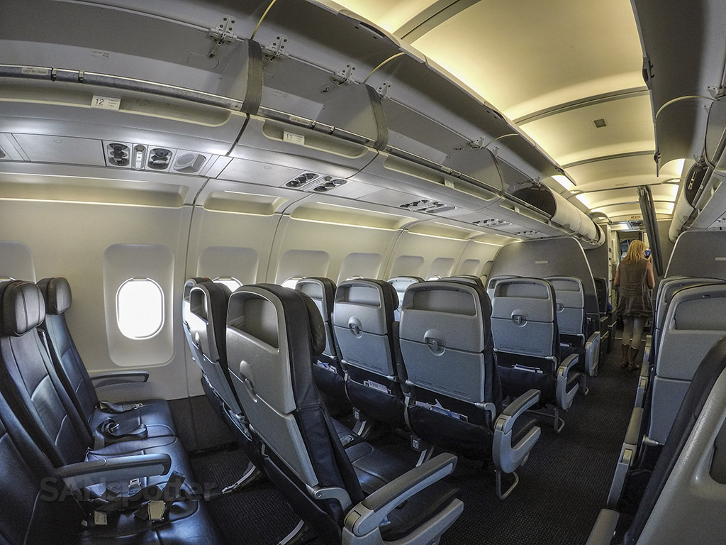 American Airlines A319 economy class cabin, looking forward
