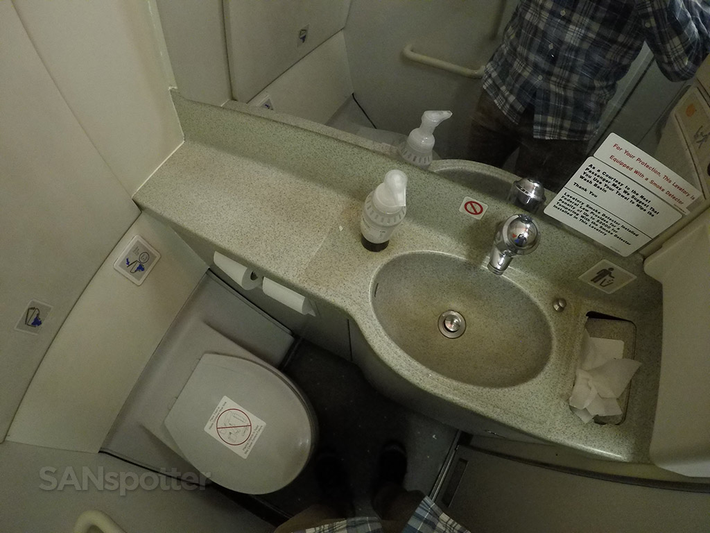 american airlines a319 economy class lavatory