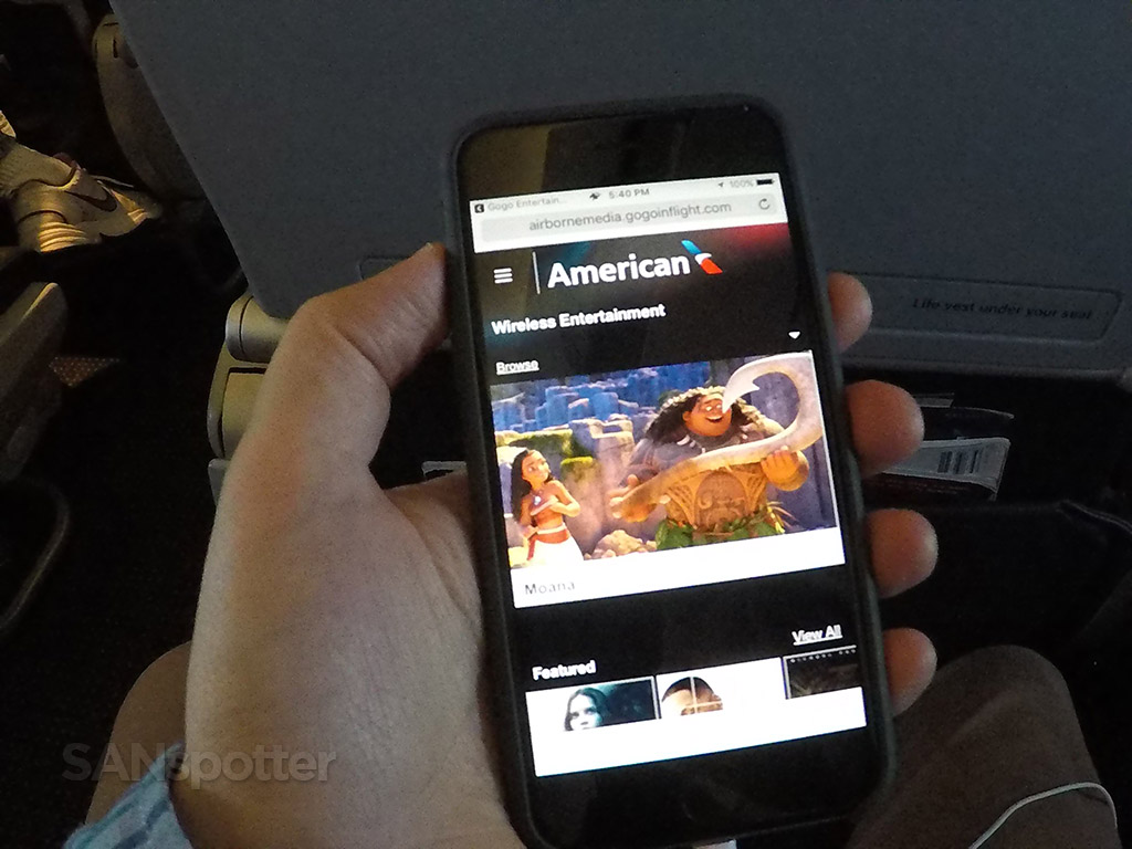 american airlines streaming entertainment