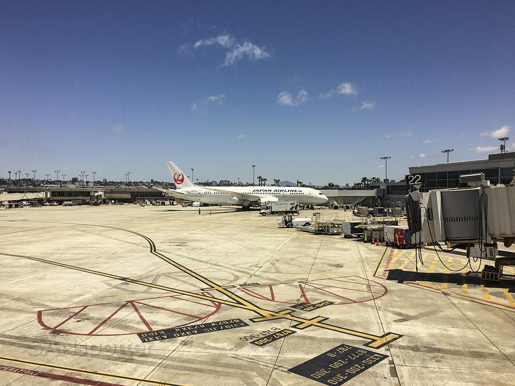 Japan airlines 787 San Diego