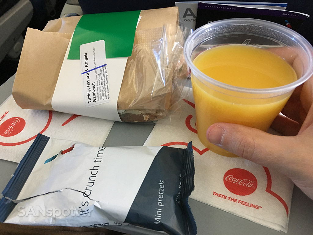 american airlines economy class meal