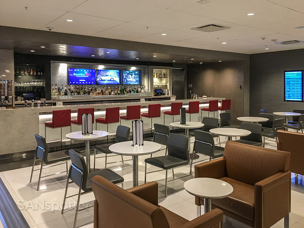 American Airlines admirals club self serve food bar