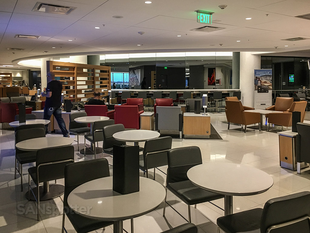American Airlines admirals club interior