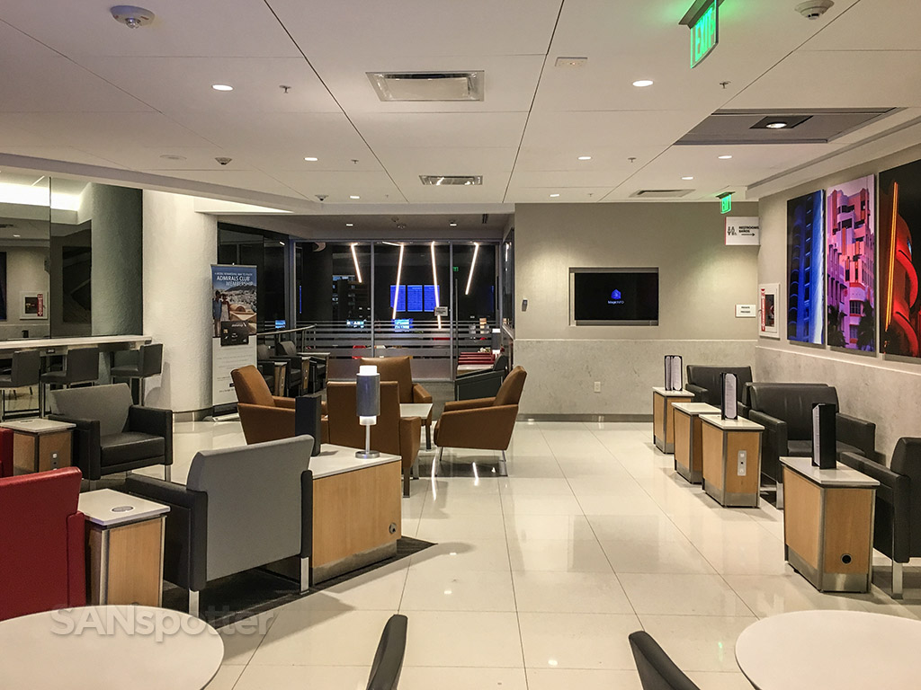 American Airlines admirals club MIA seating options