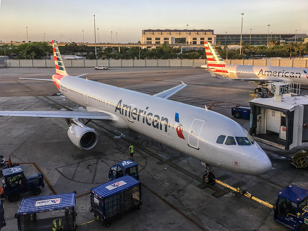 American Airlines admirals club MIA spotting