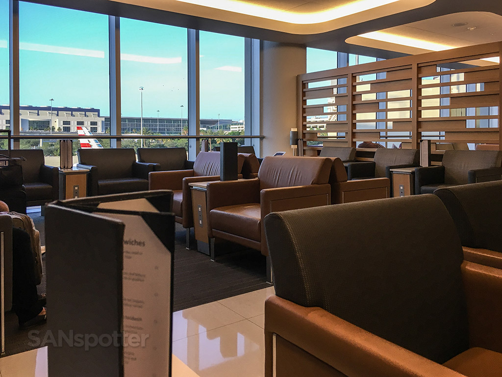 American Airlines admirals club MIA windows