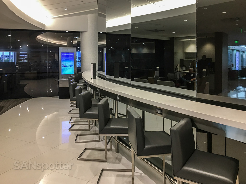 American Airlines admirals club bar seating MIA