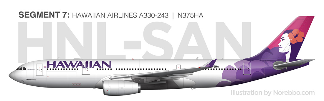 Hawaiian Airlines A330-200 side view