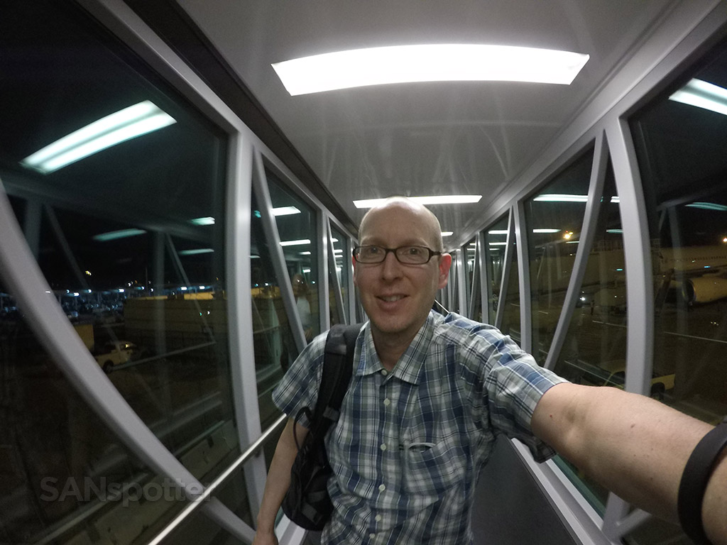 SANspotter selfie SAN jet bridge