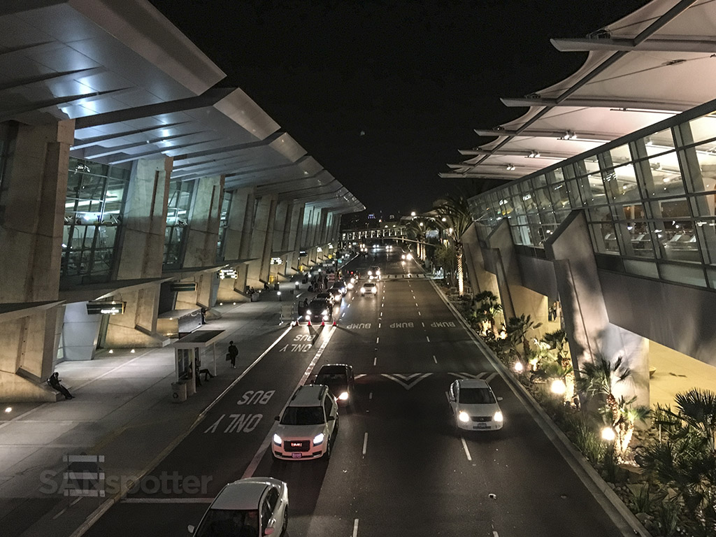 San Diego airport at night