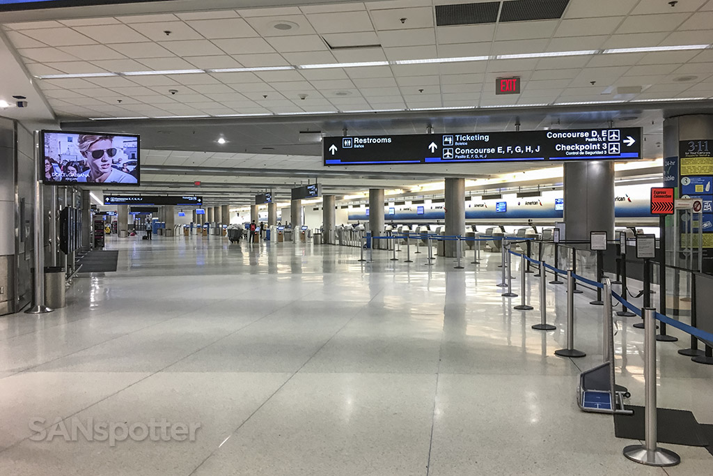 Miami airport ticketing hall