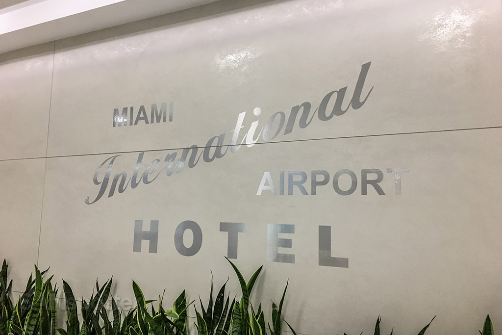 Miami international airporthotel sign