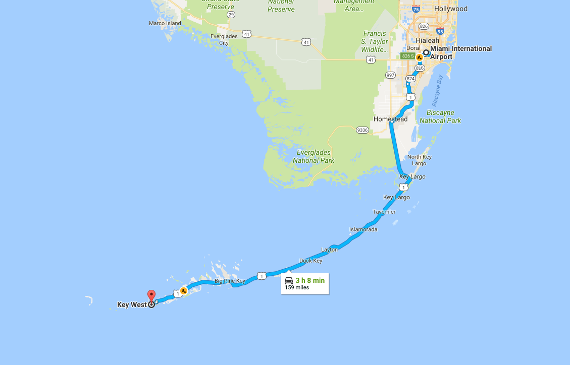 miami to key west road trip