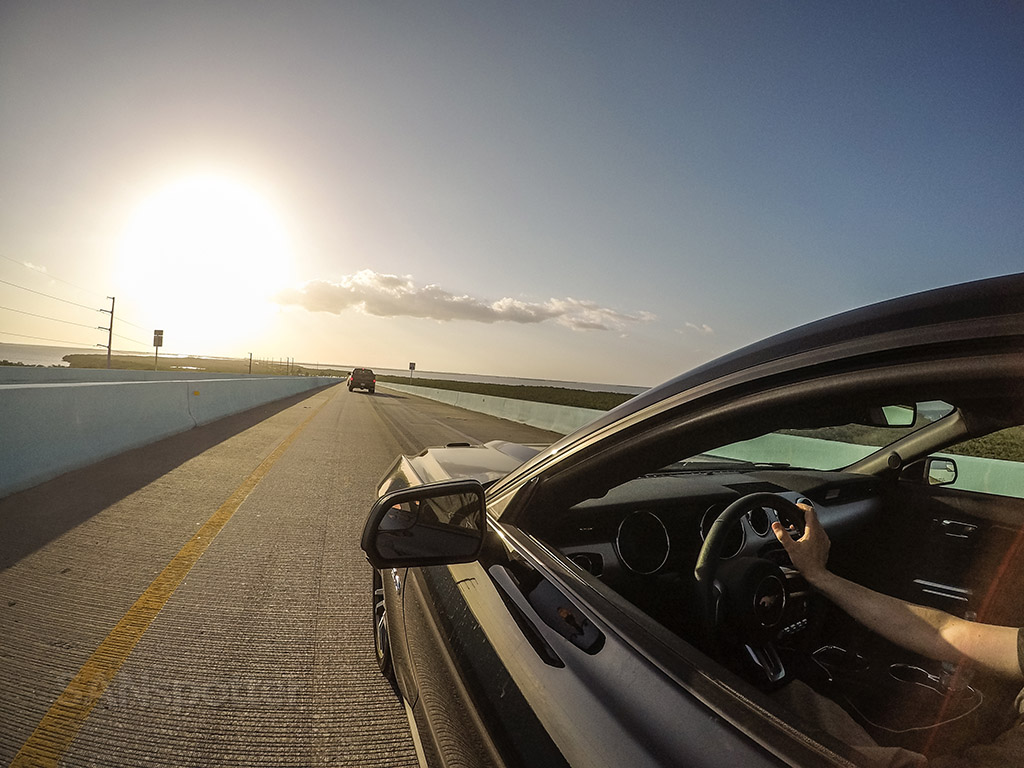 Mustang GT sunset Florida Keys