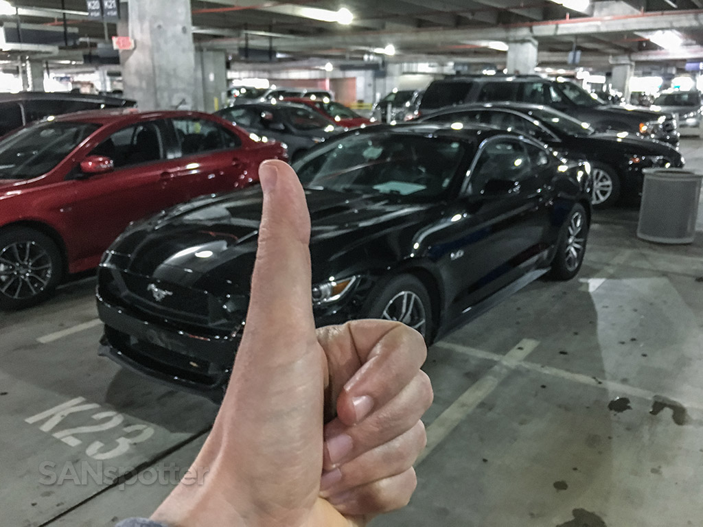 Mustang GT rental car Miami airport