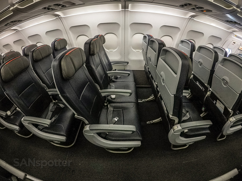 American Airlines A319 seat design