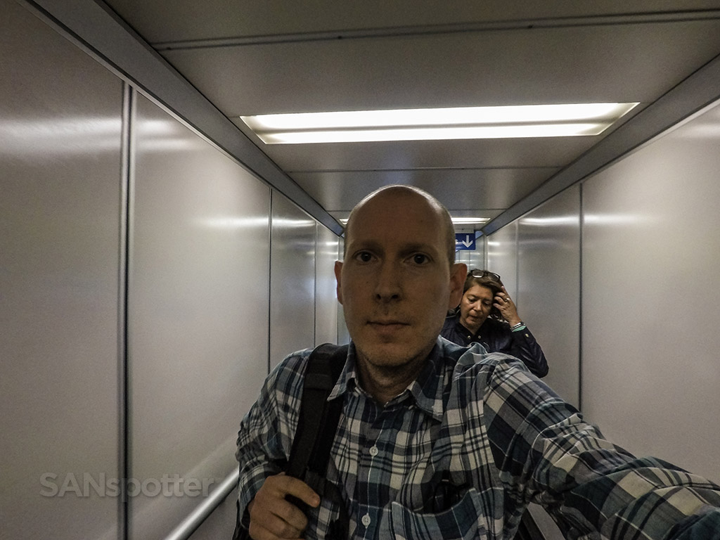 SANspotter jet bridge selfie
