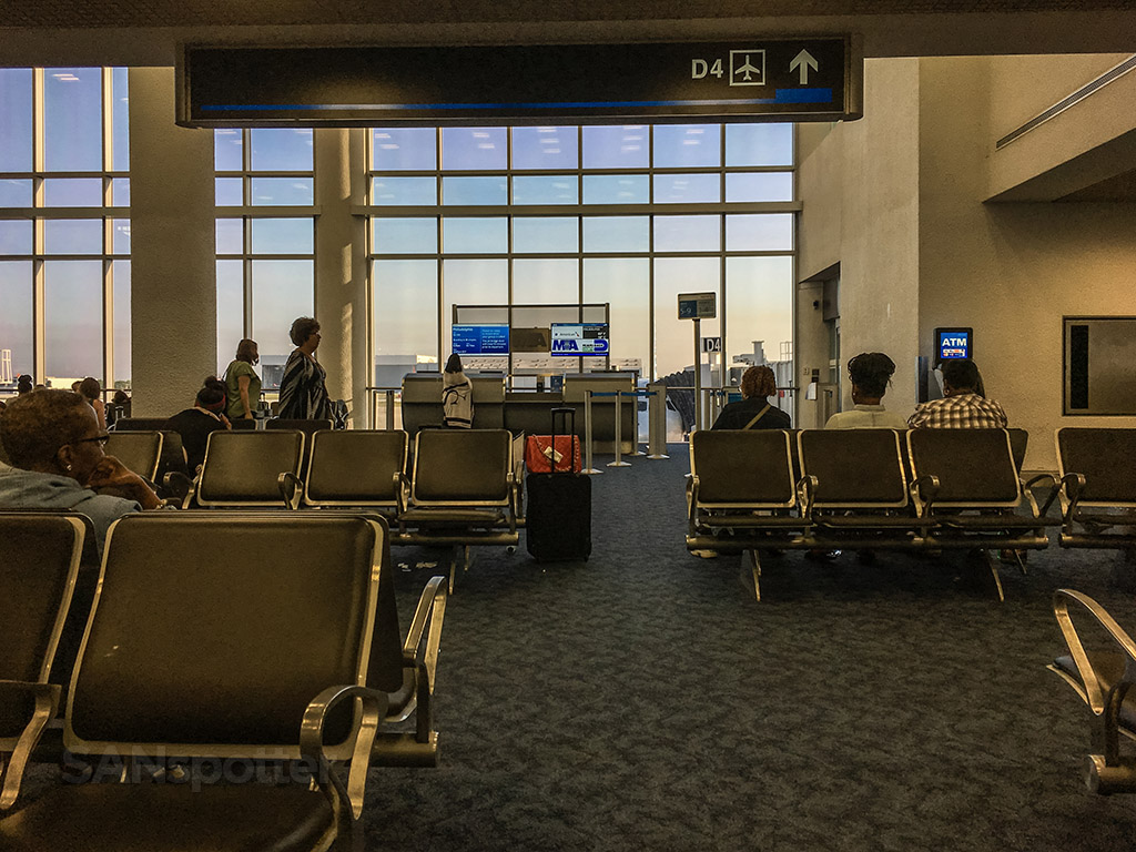 MIA airport gate