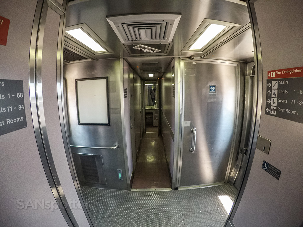 Amtrak Pacific Surfliner lower level galley