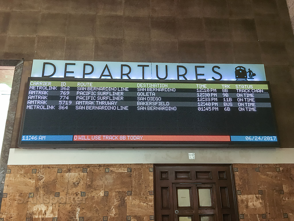 Union station departures board