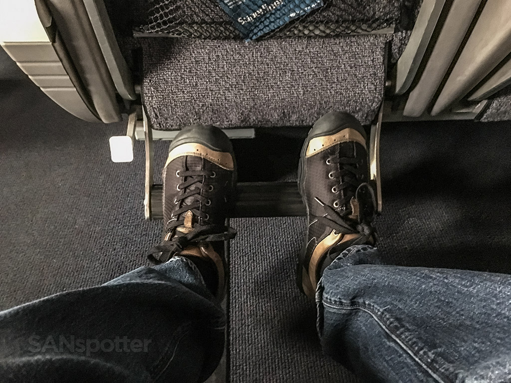 Amtrak Pacific surfliner foot rest