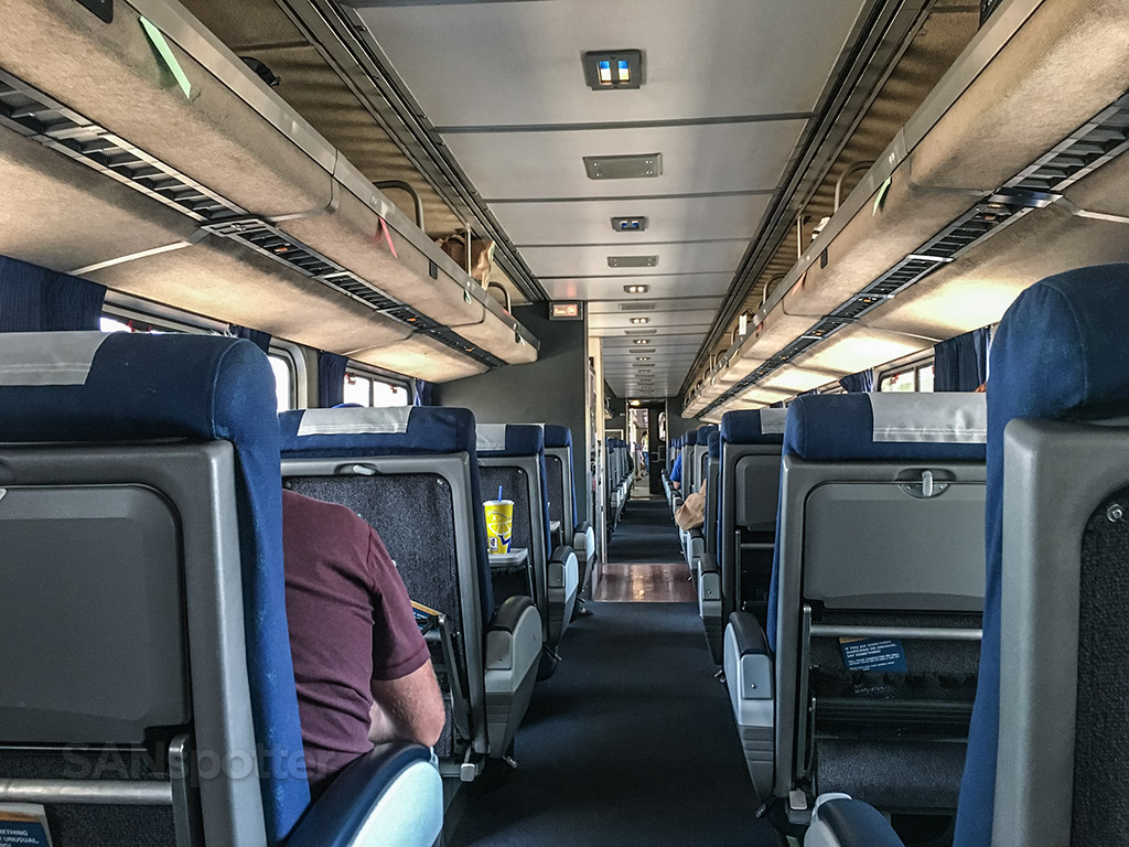 Amtrak Pacific Surfliner inside