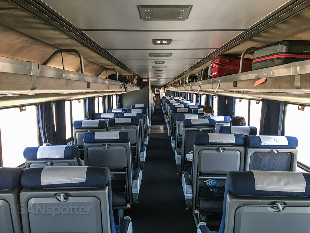 Amtrak Pacific Surfliner interior