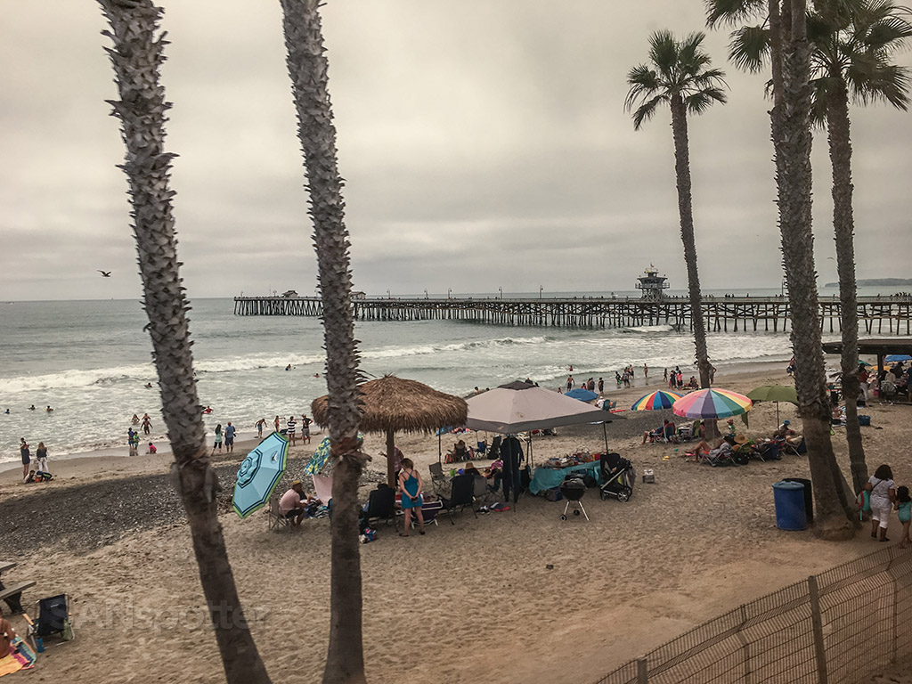 San Clemente beach view from train