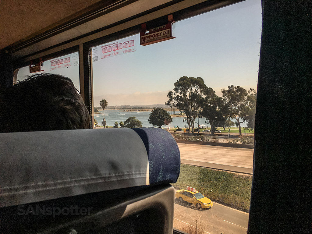 View of mission bay from train
