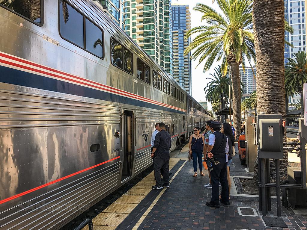 Amtrak Pacific Surfliner Santa Fe depot San Diego