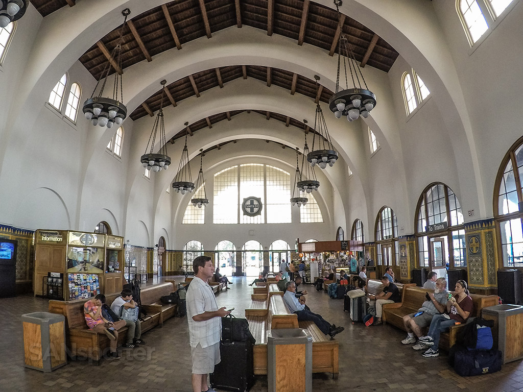 San Diego Santa Fe train depot interior