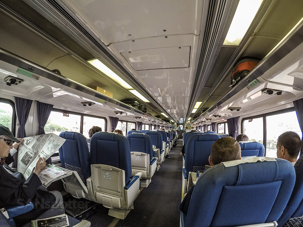 Amtrak to Pacific surf liner business class interior