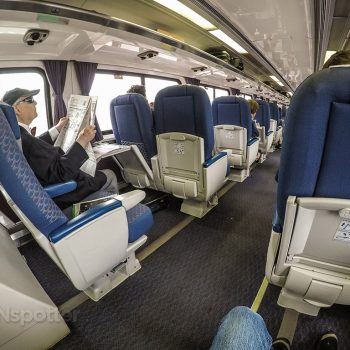 Amtrak Pacific surf liner business class seating layout