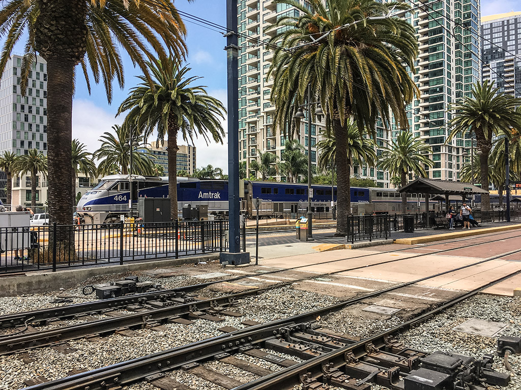 Amtrak Pacific surf liner San Diego train station