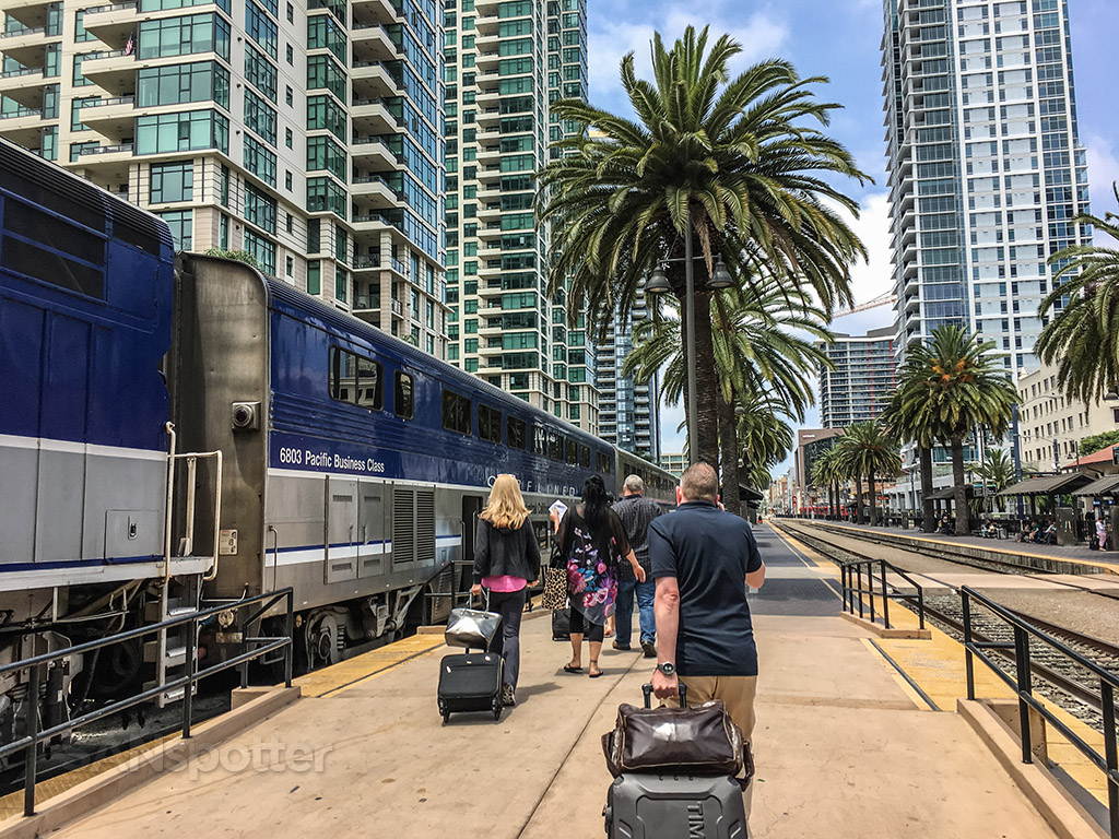 Pacific surf liner San Diego Amtrak